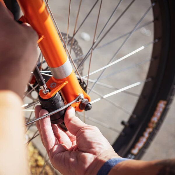 Yuba Cargo Bikes Pin lock storage