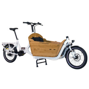 Yuba Cargo Bikes Electric Super White bamboo