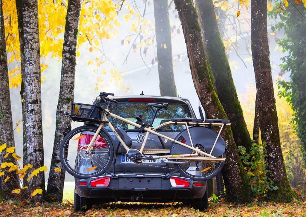 An Electric Mundo on a Bike Rack